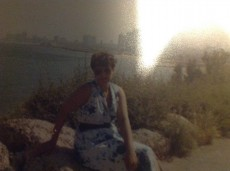 Israel 1982 with light reflection after reproduction with the ipad on February 21, 2014 Amsterdam